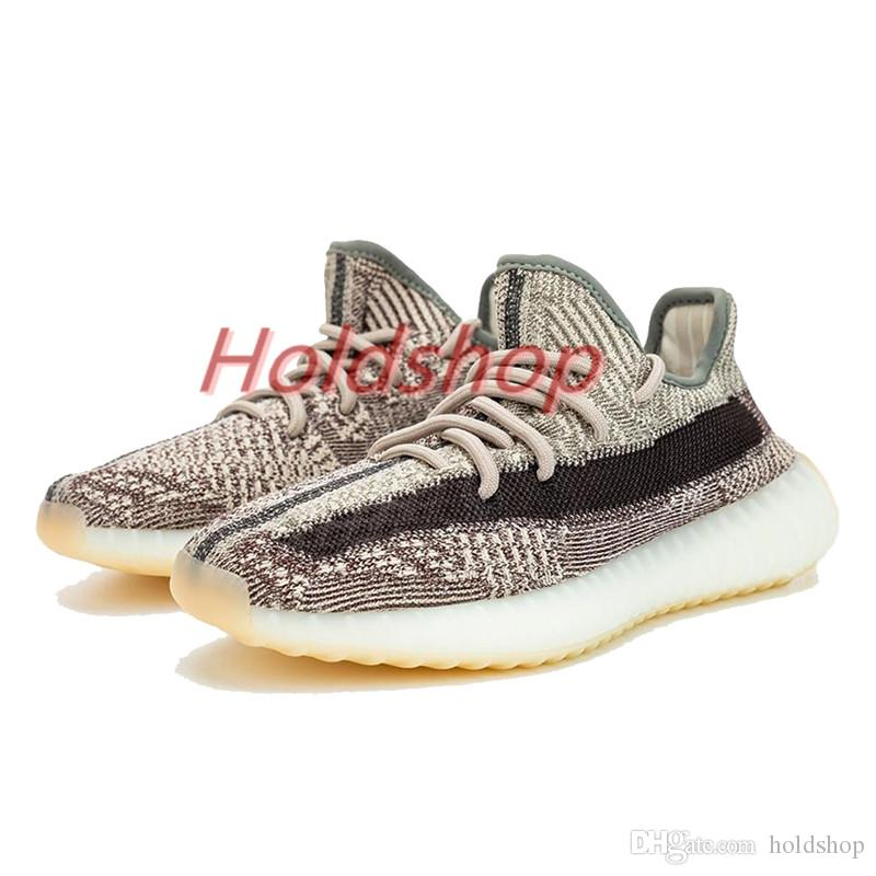 estilista de la Tierra Kanye West luz de la cola del desierto Marsh lino Yeshaya hombres de los zapatos corrientes Yecheil Landmark Negro estático reflectante Mujeres zapatillas de deporte