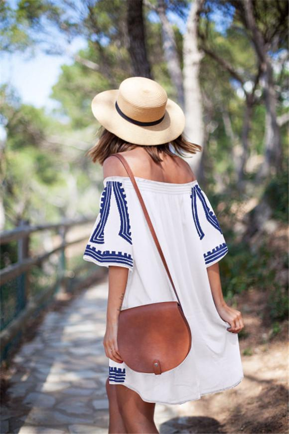Lucylizz Women Vintage Beach Tunic Cover up Swimwear Sarongs Summer Pareo Beachwear Dress Kaftan Robe De Plage Canga Swimsuit
