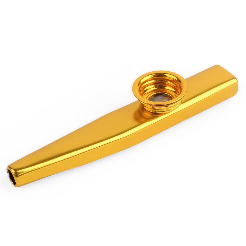 Metal dorado Kazoo boca Armónica Flauta Kids Party Regalo Kid Instrumento musical