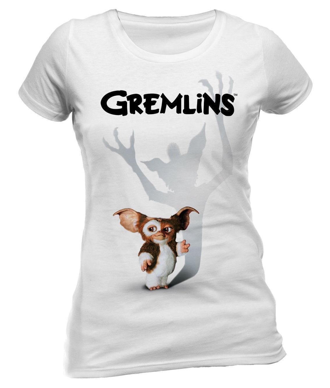 Mujeres OficialHombres 'gizmo Unisex Mujer Para Shadow' Camiseta Gremlins De Gratis Negro ¡nuevo Moda Envío Entallada LqzpUGjSMV