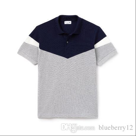 2019 Mens Designer Polo Shirts Summer Brand Crocodile Fashion Shirts Hot Sale High Quality with 4 Colors Size M-2XL