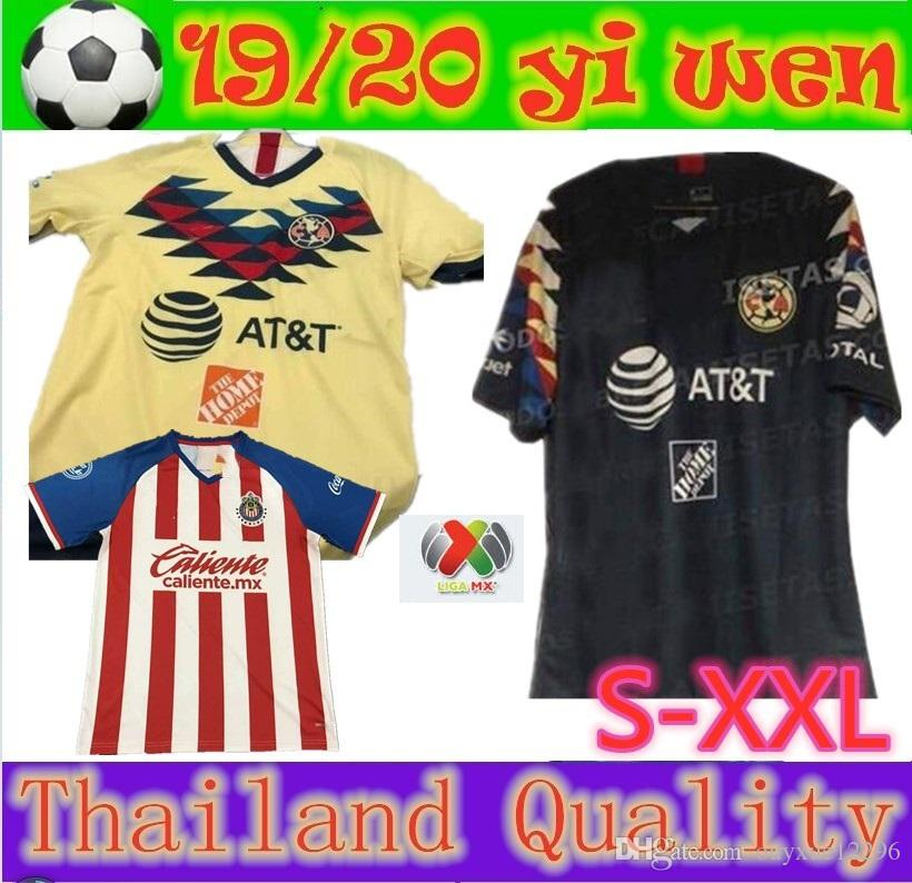 best service 34c69 6039c Size S-XXL 2019 LIGA MX Club America soccer Jersey 19 20 Mexico O.PERALTA  home away football jerseys Chivas Guadalajara shirt