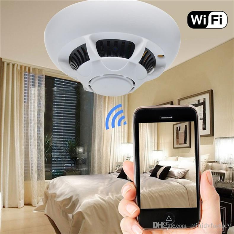 WiFi Wireless IP Camera Smoke Detector Camcorder UFO Super Camera Cam Security DVR Video Recorder P2P for IPhone Ipad Android Phone