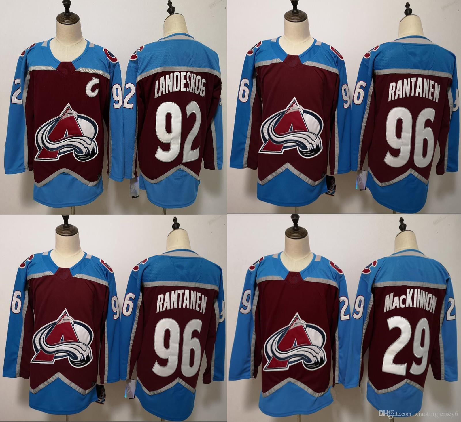 c8e19db30 2019 ado Avalanche Hockey Jerseys 92 Gabriel Landeskog 29 Nathan MacKinnon  96 Mikko Rantanen Men Jersey From Xiaotingjersey6