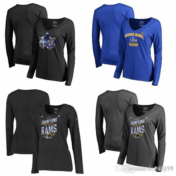 f010f9c0 Los Angeles Rams Pro Line by Fanatics Branded Women's 2018 NFC Champions  Trophy Collection Locker Room Plus Size Long Sleeve T-Shirt