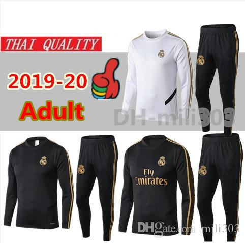 super popular e9c23 3c57e 19 20 New Real Madrid soccer tracksuit chandal Top quality 2019 2020 Real  Madrid SERGIO RAMOS MODRIC ASENSIO football training suit jogging