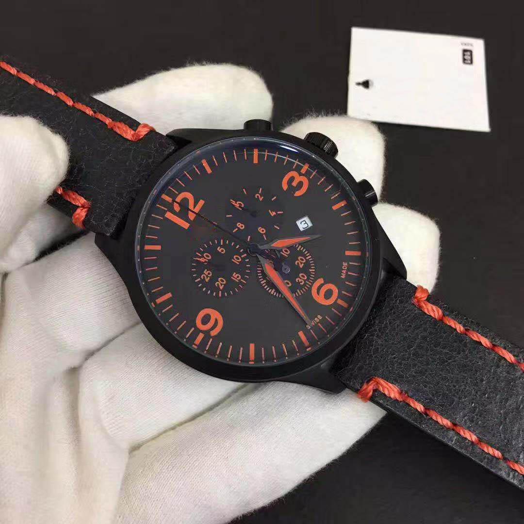 Quartz Pointer A Semaine En Acier Inoxydable Nouveau Top Montres Montre Travail Horloge Date P 6 Cadran 2019 Petit Hommes 42mm eEWIYD9H2