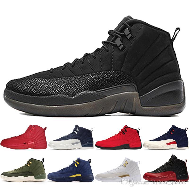 cc23afbfbc21 12 12s Gym Red Bulls Mens Basketball Shoes Michigan International Flight  College Navy Flu Game Taxi UNC Sunrise Men Sports Sneakers Designer Cp3  Shoes Kids ...