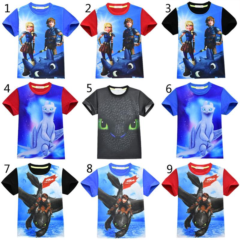 9 Style Boys Girls How to Train Your Dragon 3 T-shirts 2019 New Children Cartoon Toothless Short sleeve t shirt Baby kids clothing B12