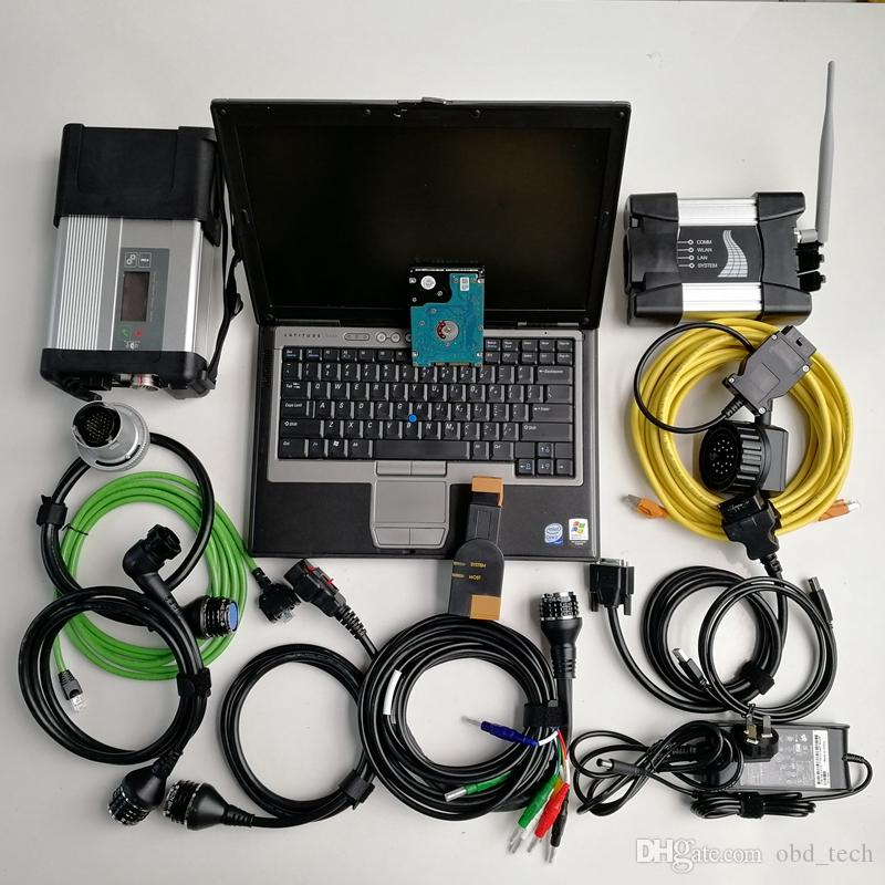 Factory Price 2in1 Used Laptop Computer D630 Car Diagnosis Tool Mb