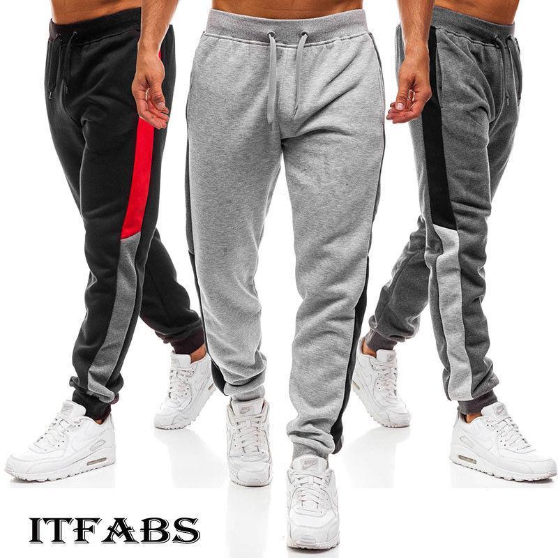 a86187035e Compre Pantalones Slim Fit De Los Nuevos Hombres Del Otoño Pantalones De Pierna  Recta Urbana Harajuku Pantalón Lápiz Casual Jogger Pantalones De Carga ...