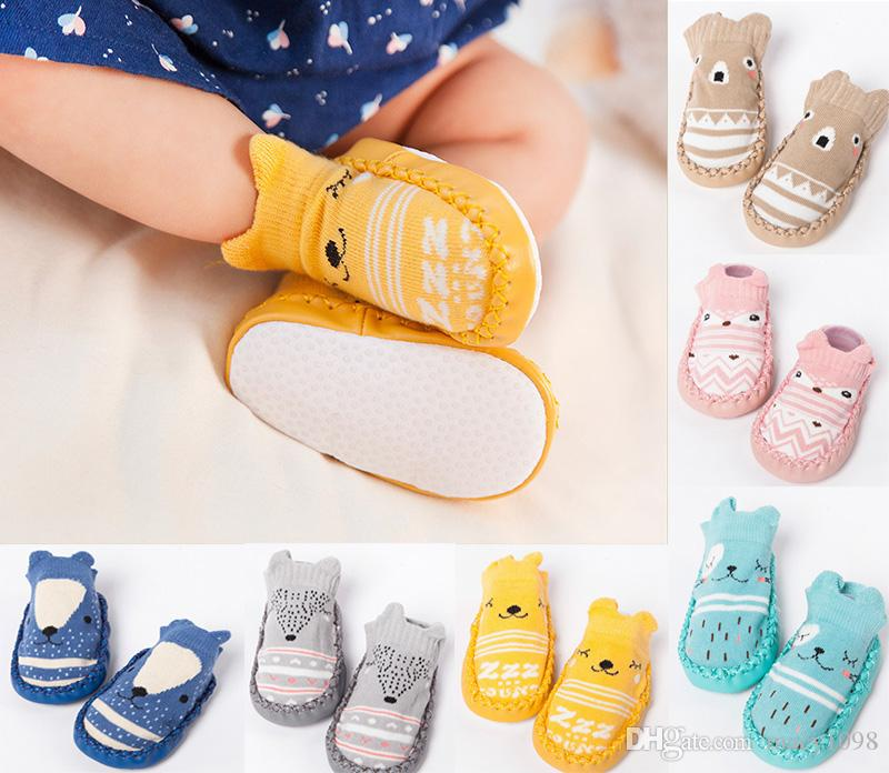 5441627793deb New Arrival newborn baby Shoes First walkers Toddler soft antiskid sole  prewalker boys girls crib shoe indoor socks 11-14cm