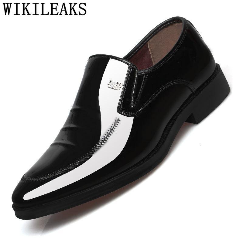 Acquista Scarpe Uomo Uomo Pelle Verniciata Coiffeur Mocassini Uomo Scarpe  Formali Pelle Scarpe Uomo Eleganti Abito Zapatos Hombre A  32.8 Dal  Trendone ... 17fe48b947e