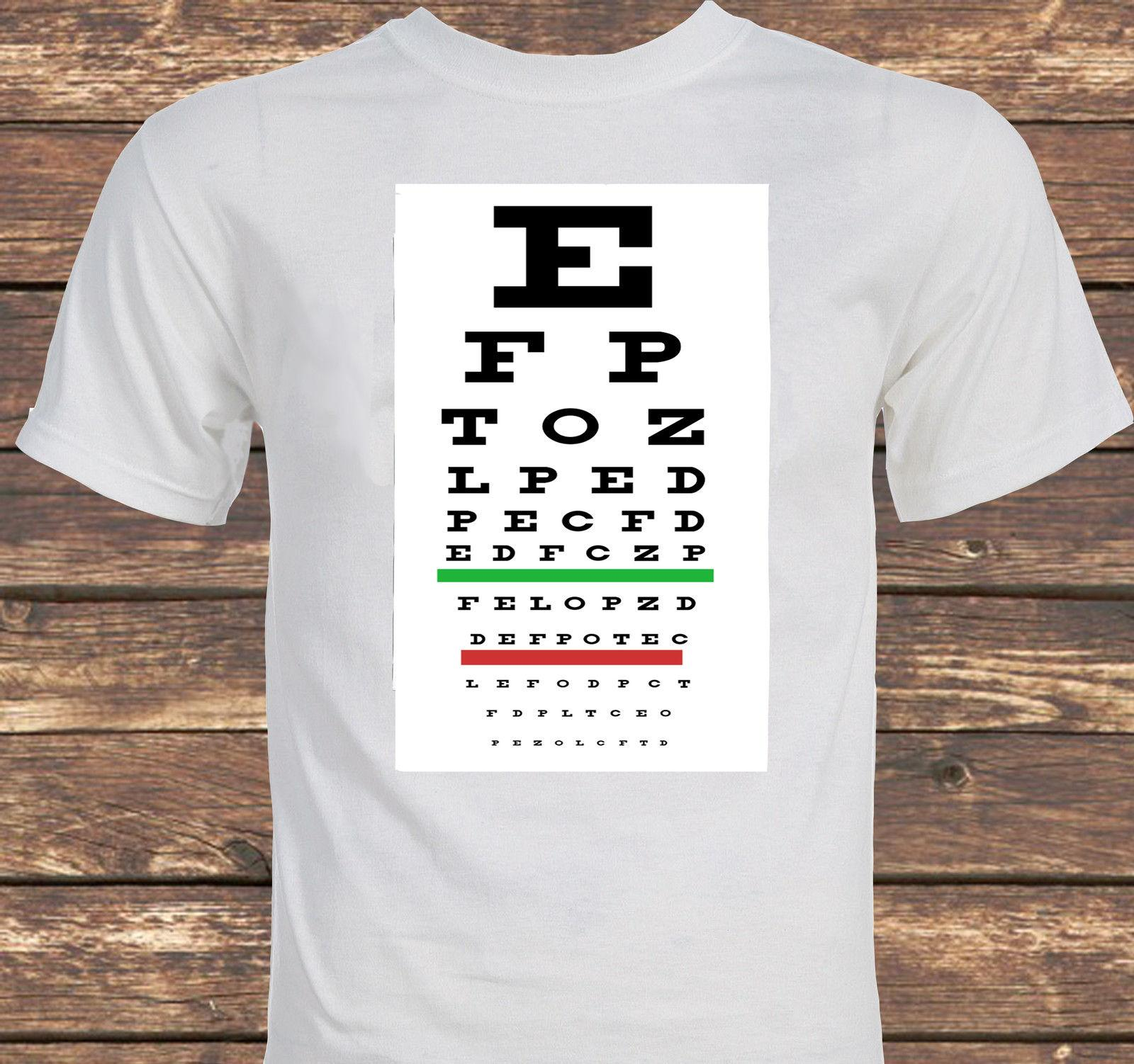 Eye Test Chart Unique Optometry T-shirt