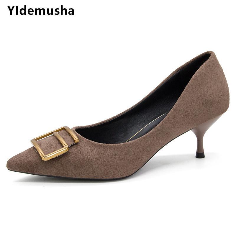 fb1c0688ecf Dress Shoes Yidemusha 2019 New Ladies Women Pumps Patent Pu Leather Low Heel  Shoe Nude Office Elegant Women Wedding Party Designer Shoes High Heel Shoes  ...