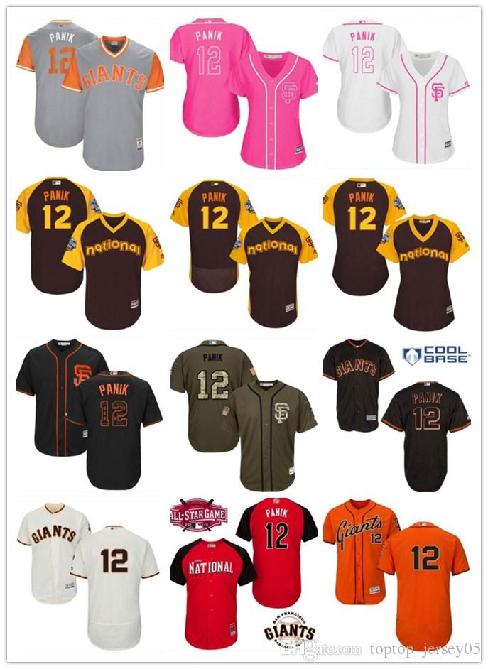 b71f4c3f 2019 2018 Top San Francisco Giants Jerseys #12 Joe Panik Jerseys Men#WOMEN#YOUTH#Men'S  Baseball Jersey Majestic Stitched Professional Sportswear From ...