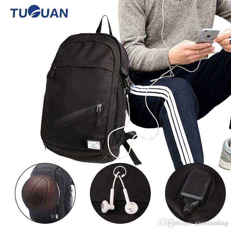 5a79cca95fb9 Outdoor Men's Sports Gym Bags Basketball Backpack School Bags For Teenager  Boys Soccer Ball Pack Laptop Bag Football Net Gym Bag #842216