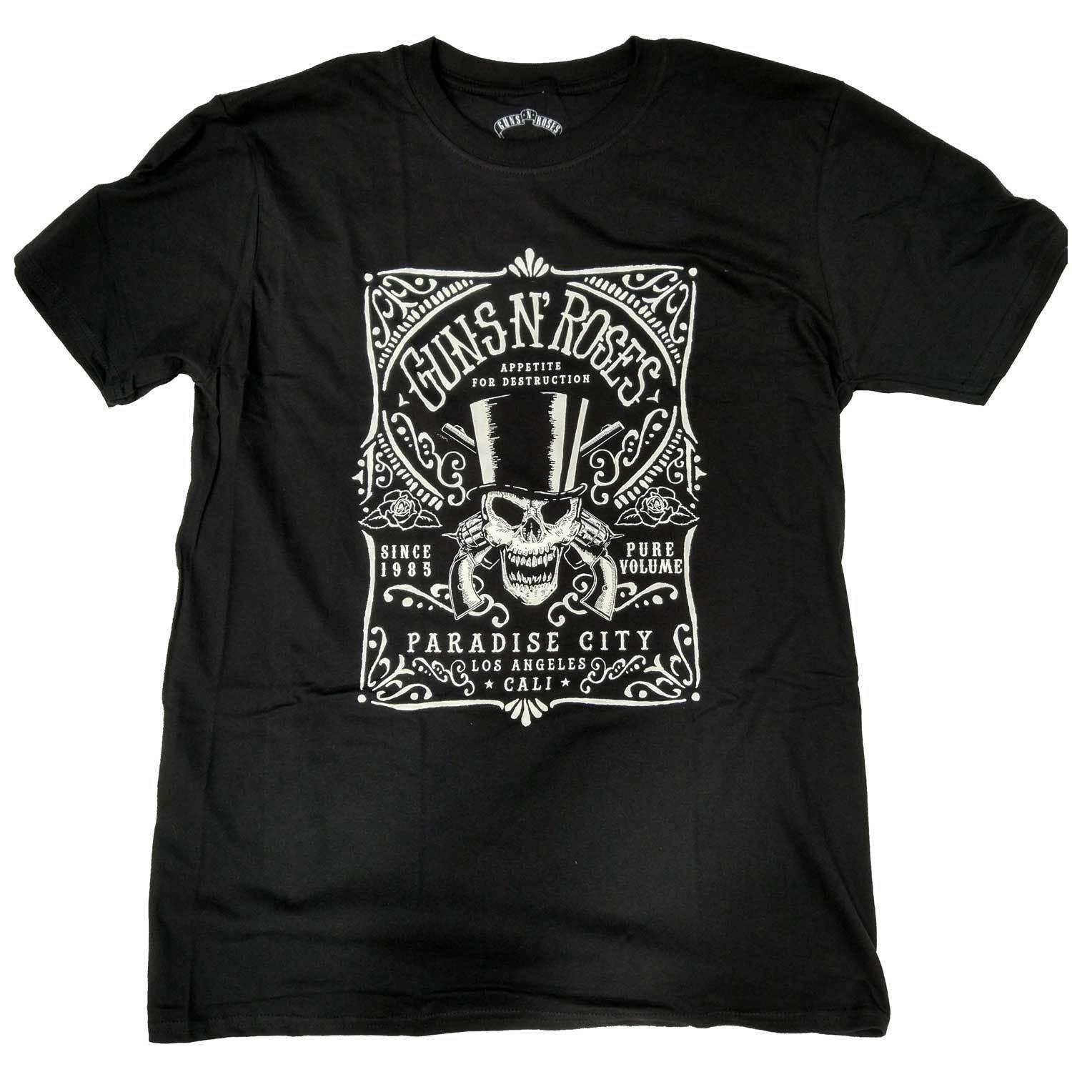 Guns 'N Roses T Shirt - Bourbon Label Men Women Unisex Fashion tshirt Free Shipping Funny Cool Top Tee Black