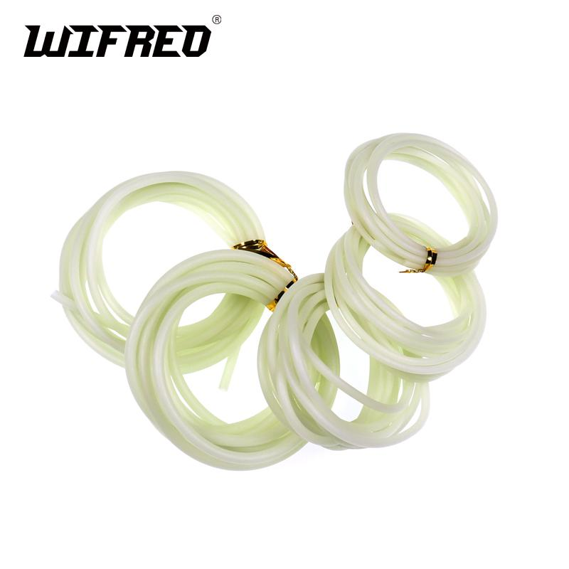 Wifreo 2m / bag Gummischlauch Soft Fishing Luminous Silikonschlauch Glowing Sleeve Salzwasserfischen Rig Lure Tubes