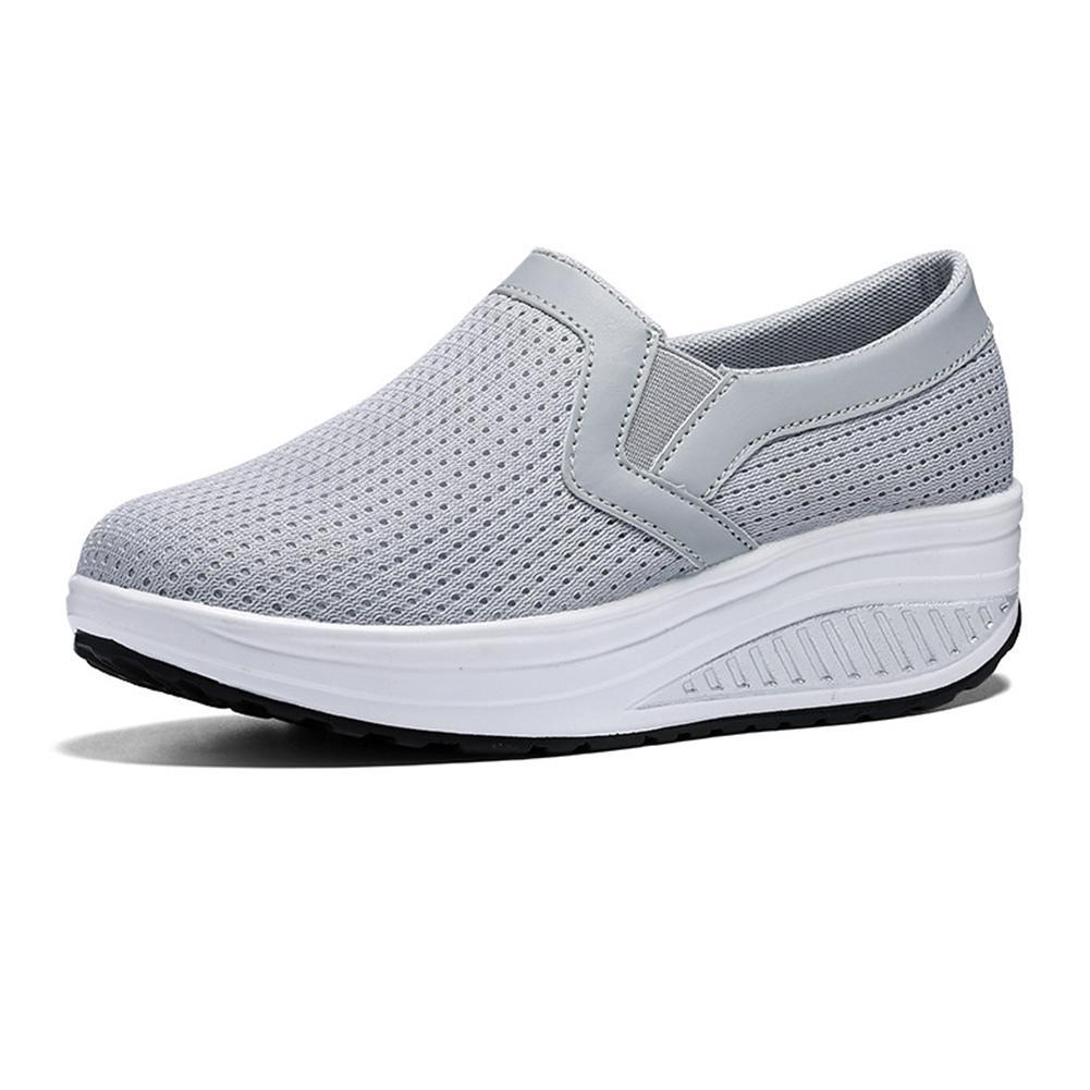 6086798b55d Compre Zapatos De Vestir Moda Para Mujer Zapatillas De Deporte  Transpirables Shake Para Mujer Zapatillas De Deporte Netas Ocasionales  Plataforma De ...