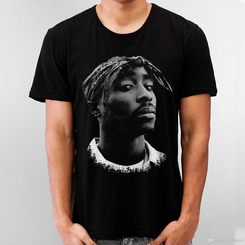 17f67b5cdaf0 Tupac Shakur 2Pac Black T-Shirt Music Celebrities Hip Hop Rap ...