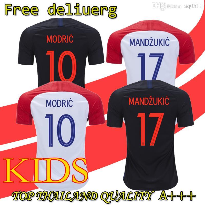 2019 MODRIC 10 MANDZUKIC 17 Soccer Jersey PERISIC 4 KOVACIC 8 RAKITIC 7  SRNA 11 BROZOVIC 14 KALINIC 16 2018 World Cup Croatias Football Shirt From  Aq0511 133c769fc