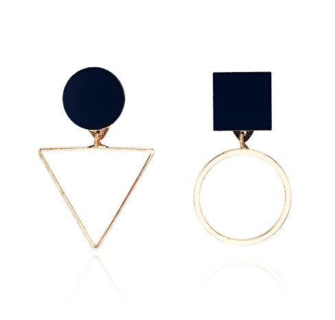 Nice New Fashion Geometric Stud Earrings For Women Round Triangle Design Elegant Earrings For Birthday Wedding Gift Brincos