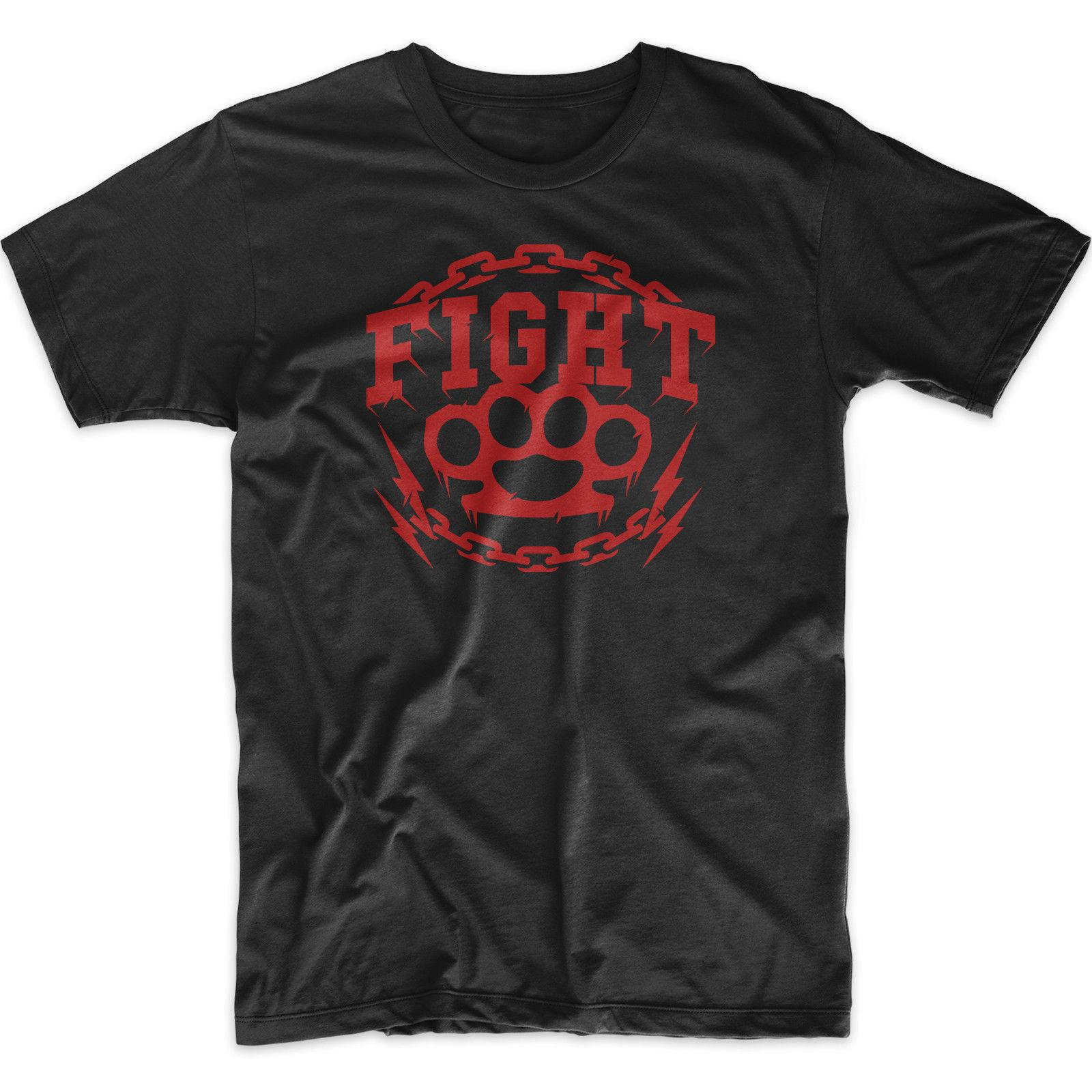 7bbfceac FIGHT MOTIVATION SLOGAN UNISEX T SHIRT GYM GIFT IDEA TOP Hipster O Neck Cool  Top Hip Hop Short Sleeve 2018 Funny Tee Cotton T Shirts Fitted Shirts From  ...