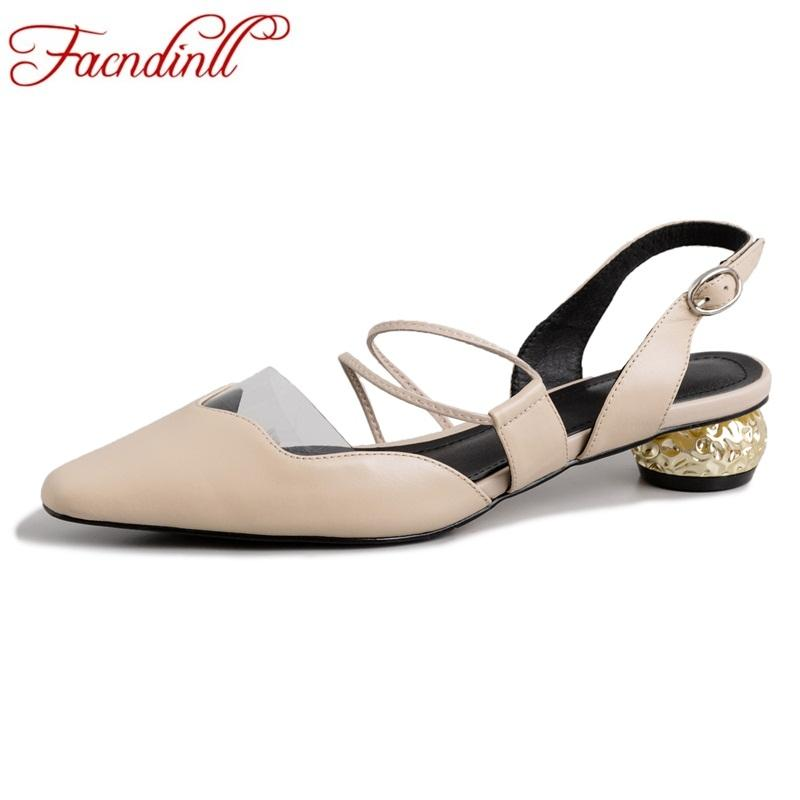 FACNDINLL genuine leather pointed toe high heels wedding women shoes high quality office ladies shoes women dress party pumps
