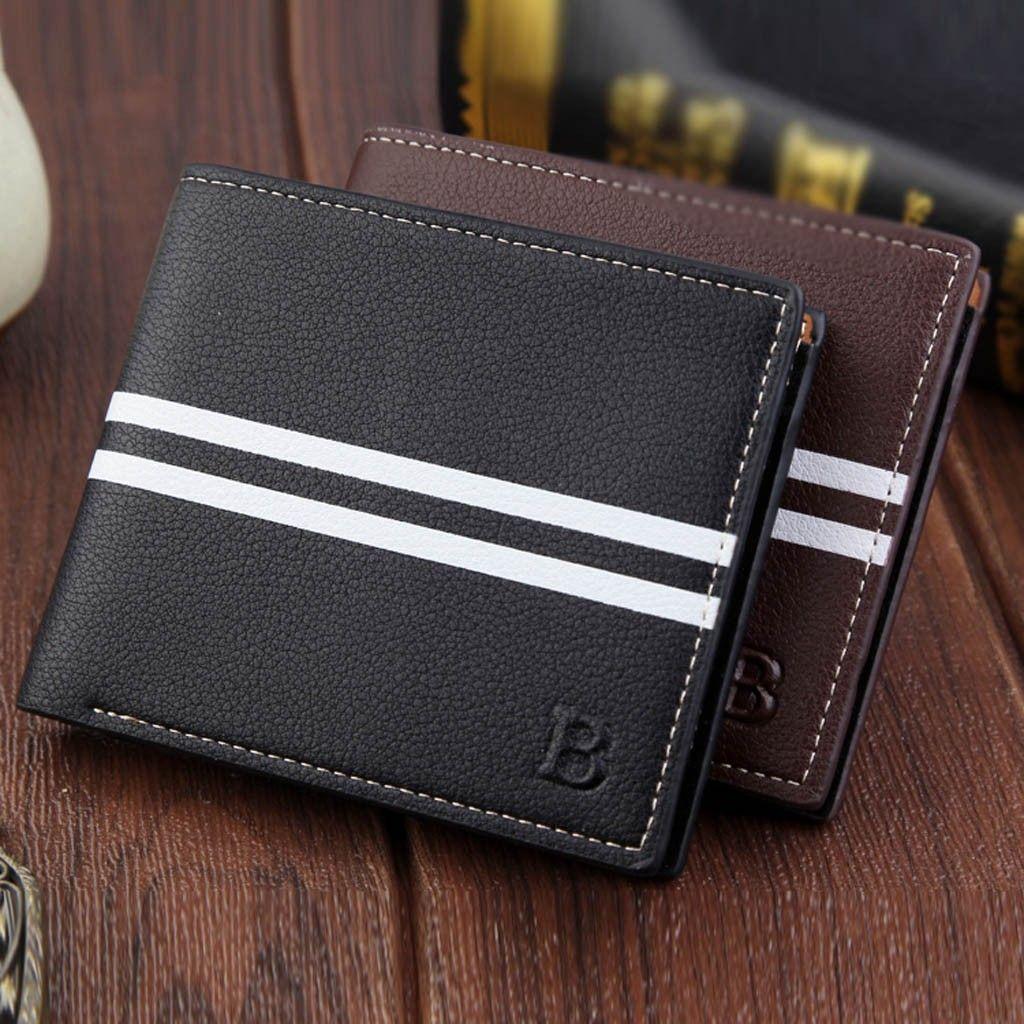 66f79b6cd073 carteira masculina Fashion Short Bifold Men Wallet Casual Soild Men Coin  Pocket Purses Wallets Wallet leather wallets