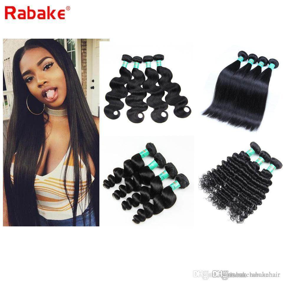 Hot Sale 8A Brazilian Straight Virgin Hair 4 Bundles 8-28 inch Raw Indian Malaysian Peruvian Body Wave Deep Wave Human Hair Weave Extensions