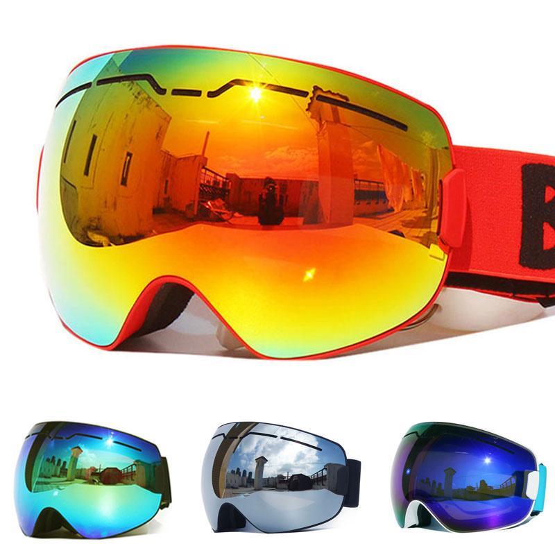 Compre 2018 Novo UV400 Anti Nevoeiro Camadas Duplas Homens Óculos De Esqui  Lente Grande Máscara De Esqui Óculos Snowboard Snowboard Óculos Óculos De  ... 3e14cceb26