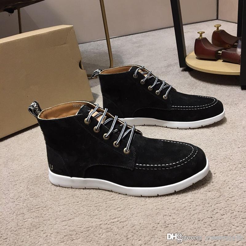 1382b20d389 2019 Newest Boots Luxury Mens Women Designer Martin Boot Chestnut Triple  Black White Camo Winter Boots size 38-44 Wholesale Dropship