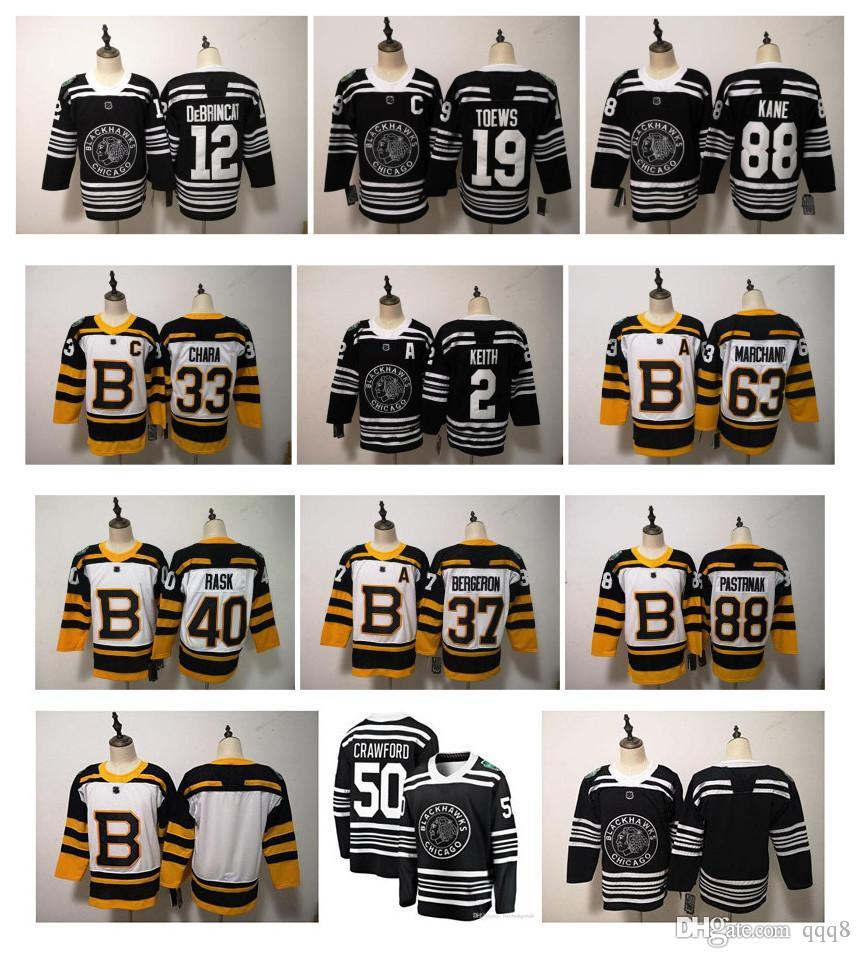 033b5e46a 2019 NHL 2019 Winter Classic Chicago Blackhawks Boston Bruins Toews  DeBrincat Patrick Kane Seabrook Crawford Pastrnak Bergeron Marchand Jersey  From Qqq8