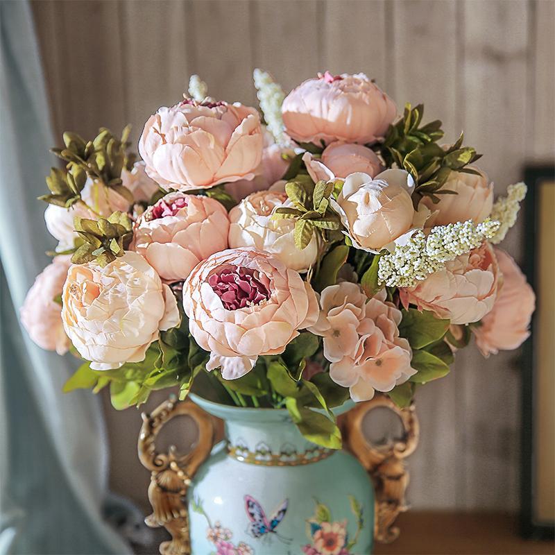 48 Cm Länge 11 Stücke Rot Lila Künstliche Rose Blume Hochzeit Dekoration Valentinstag Geschenk Chencheng Künstliche Und Getrocknete Blumen