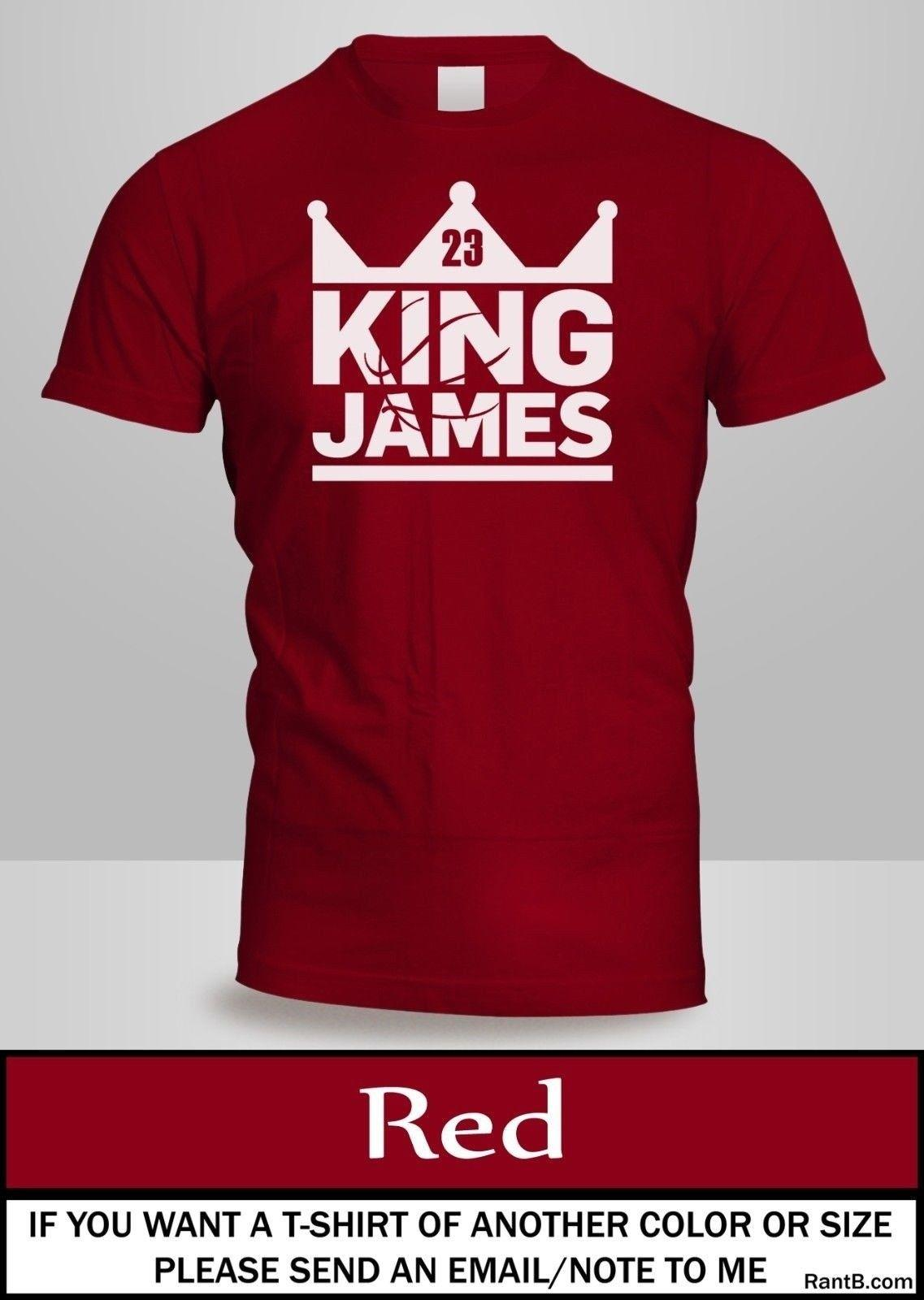 23f309f9fe9e KING LEBRON JAMES BASKETBALL GRAPHIC T Shirt Mens Top Red Colour Shirt  2Funny Unisex Casual Tshirt Top Designs For T Shirts Awesome T Shirt From  Lazyfruit, ...
