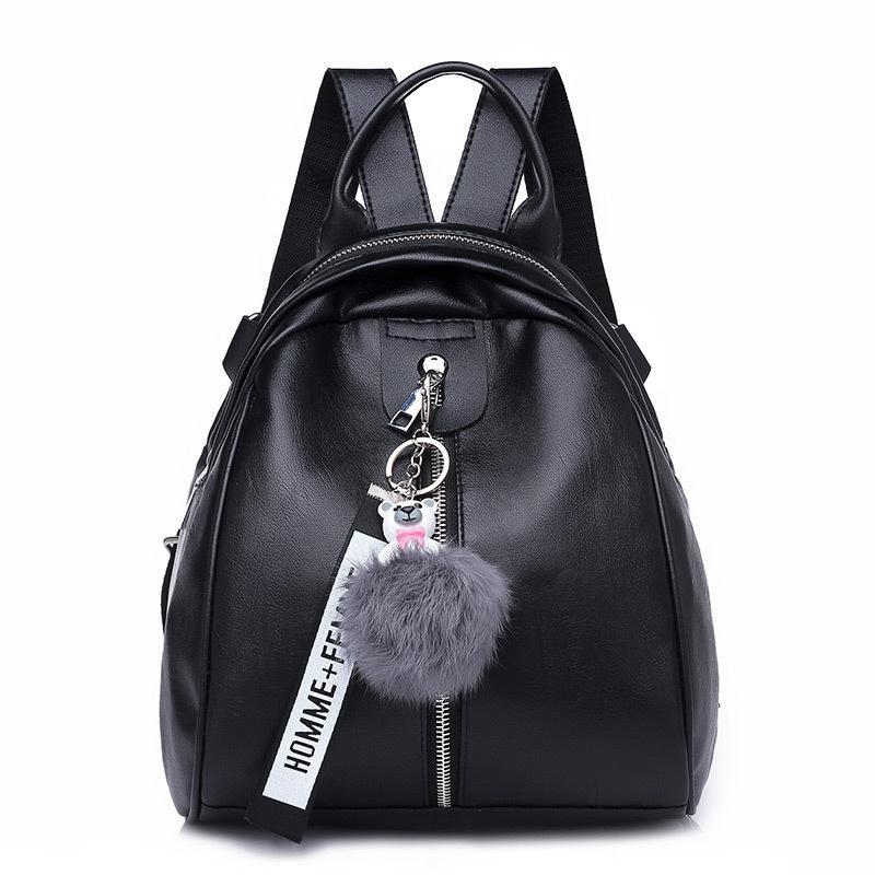 bf69c9be4d21 2019 новый высокое качество искусственная кожа женщины оболочки рюкзак мода  ...