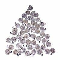 Bohemio Chic Moneda de Plata Colgante Collar Gitano Turco Gargantilla Malla Declaración Moneda Collar Pendientes Conjuntos Mujeres Joyería Tribal