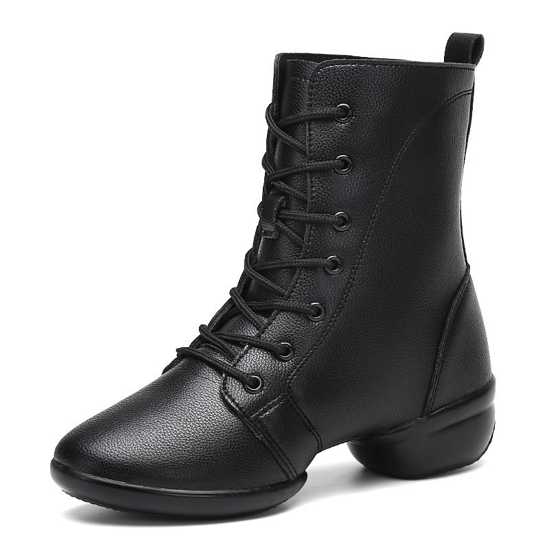 Women Boots Female Winter Boots Women 2018 Lady Fashion Design 4.5CN Heel High Top Leather Booties for Women Chaussure de danse