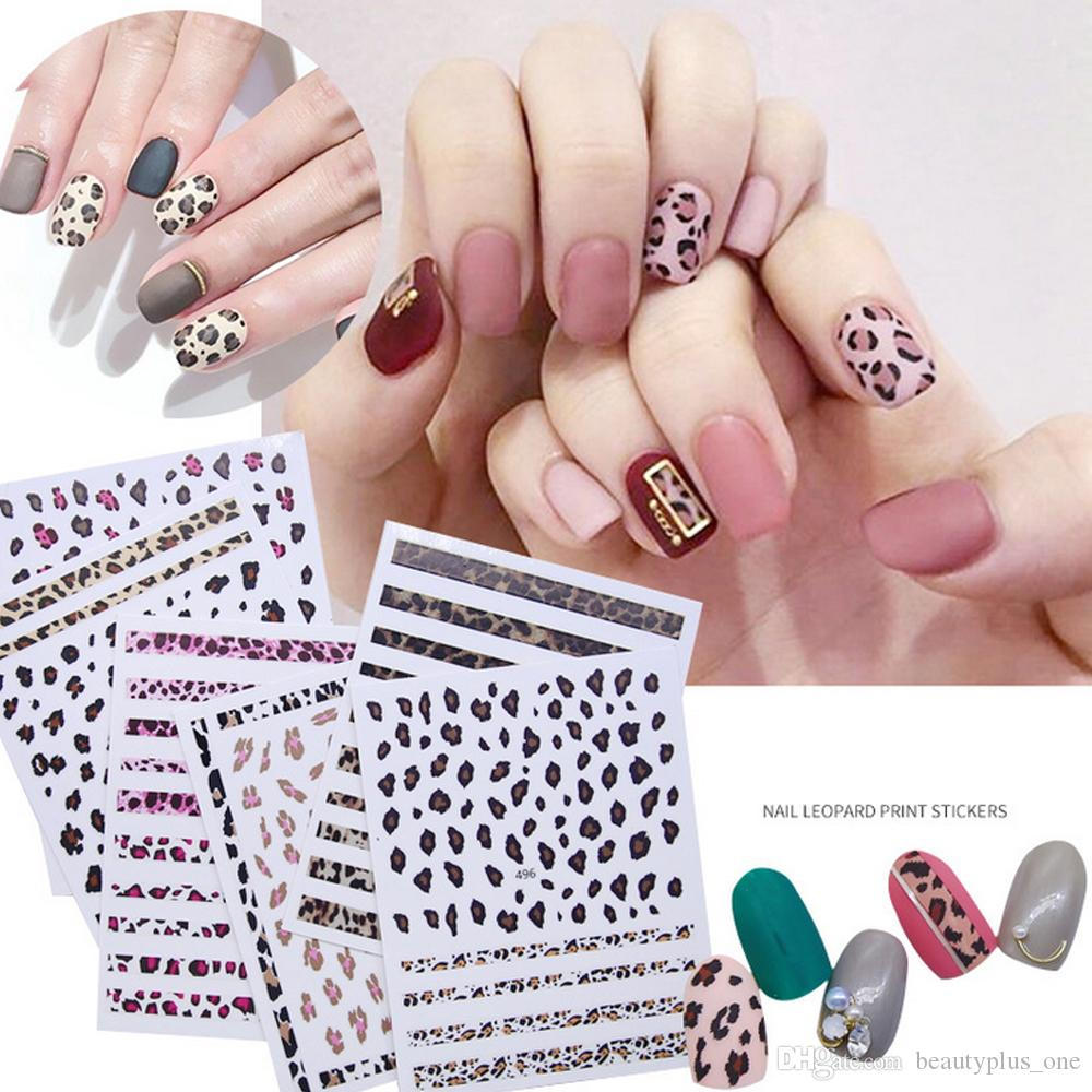 3D Nail Sticker Leopard Animal Transfer Decal Sliders for Nail Art Decoration Tattoo Manicure Wraps Tools Tip