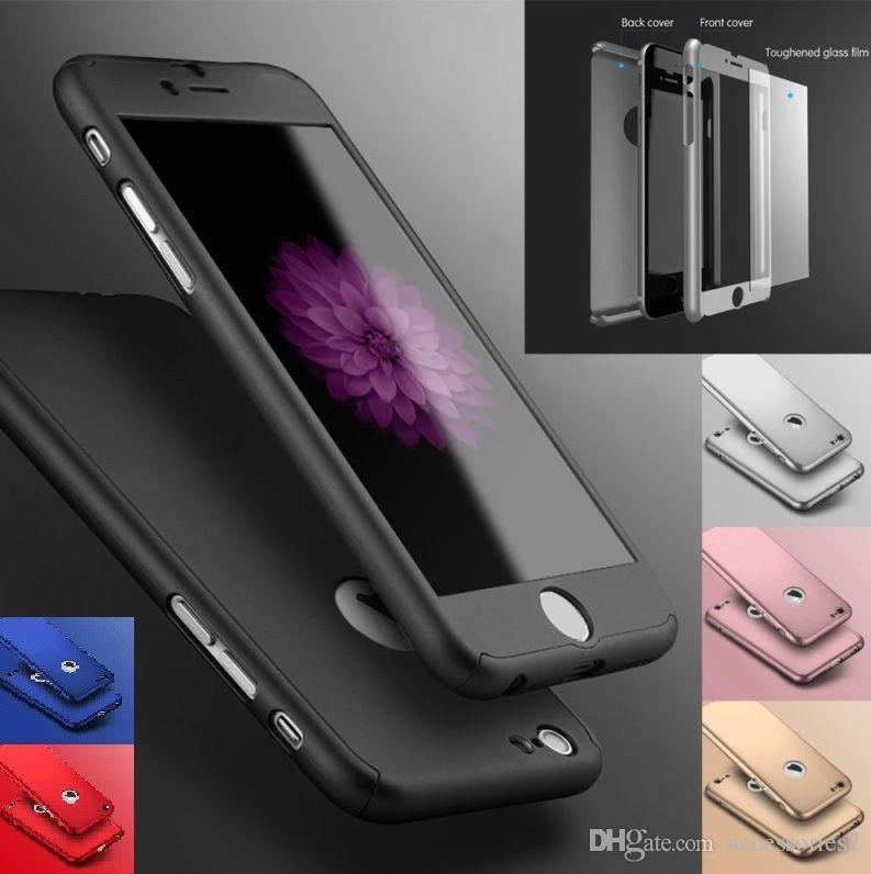 1697af6f1a1d47 Luxury Ultra Thin 360 Shockproof Hybrid LCD Tempered Glass Screen Protector  PC Hard Phone Case Cover Shell For Apple IPhone 6S 7 8 Plus X XS Durable  Cell ...
