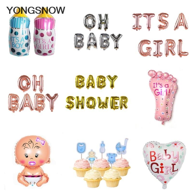 Baby Shower Letter Balloons.Balloons Party Supplies Foil Letter Balloons Boy Girl Baby