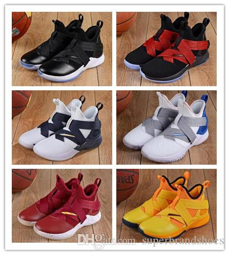 b563b507e69 2018 New Los Angeles Orange Purple Lebron Soldier XII 12 EP Mens Basketball  Shoes for Cheap High Quality Soldiers 12s Size 7-12 Online with  52.58 Pair  on ...