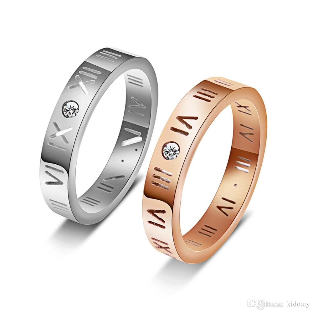 4205f8ec75ab9 Digital Lucky Ring Cross-border Trade Network Red Ring Korean Edition  Fashion 18K Rose Gold Roman Digital Lucky Ring