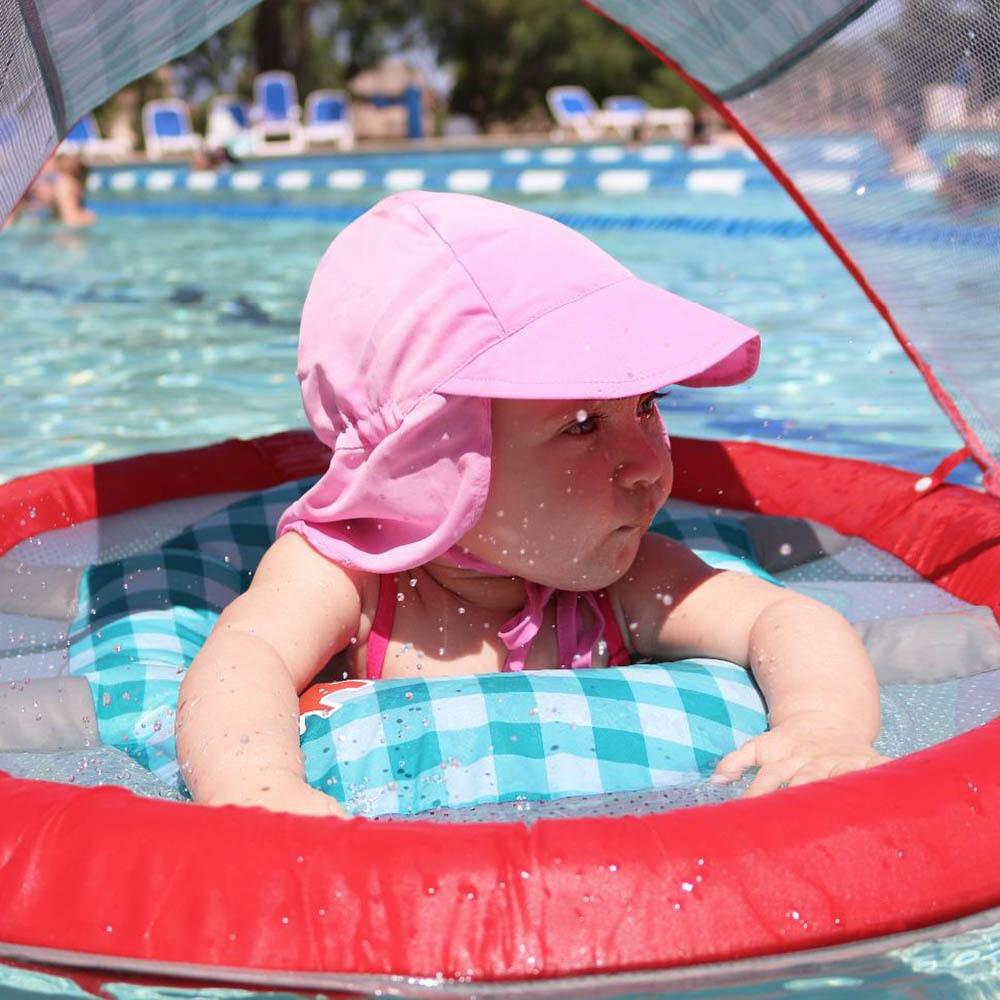 c8b99f0a16143 2019 Summer Baby Sun Hat Children Outdoor Neck Ear Cover Anti Uv Protection  Beach Caps Kids Boy Girl Swimming Flap Cap For 0 5 Years C19041302 From  Tong06