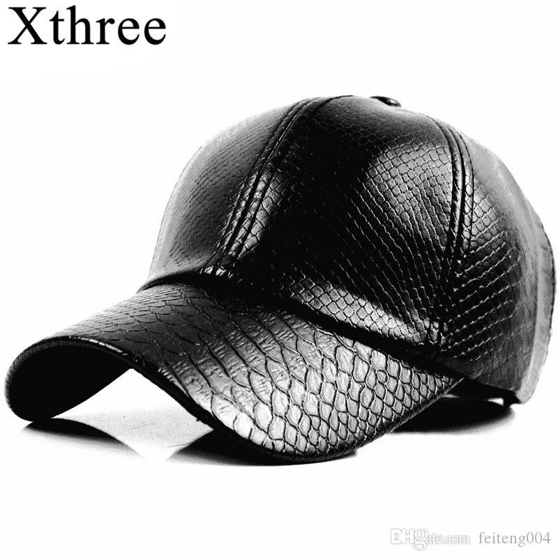 88ae0f79d576f9 Xthree Fashion Baseball Cap Women Fall Faux Leather Cap Hip Hop ...