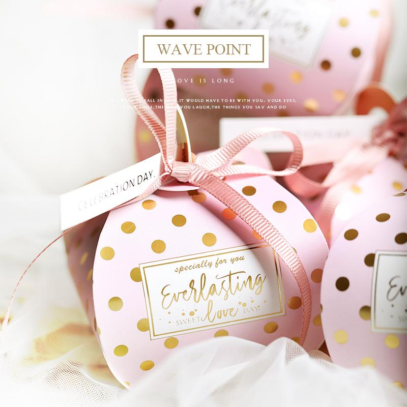 10pcs creative polka dot wedding candy boxes gift case party favors and gifts casamento decor party box bags guest giveaway gift