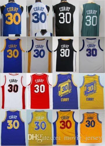 newest 051fd 2fe3e NCAA Men Golden State 30 Stephen Curry Jersey Warriors 2018 Davidson  Wildcats College Curry Basketball Jerseys Blue White