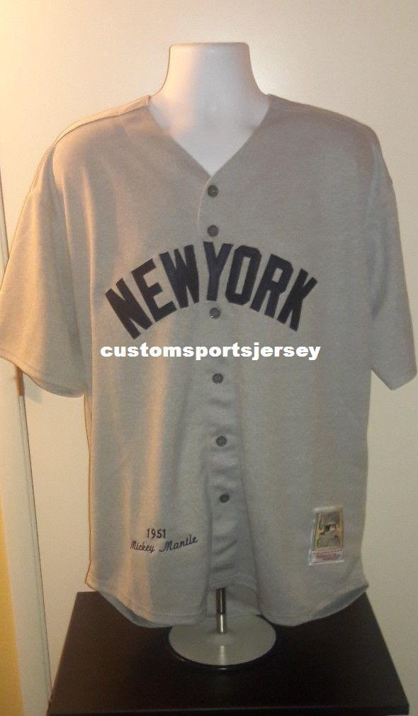 2019 Cheap Custom Mickey Mantle 1951 Retro Jersey Stitched Customize Any  Number Name MEN WOMEN YOUTH XS 5XL From Customsportsjersey f372b7e7e27