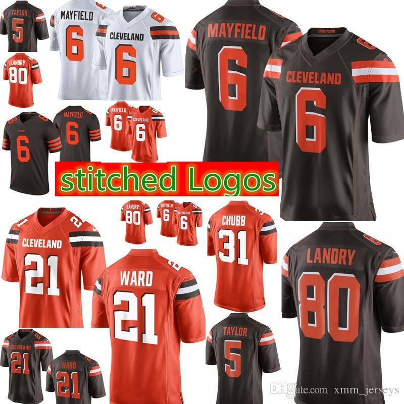 various colors b7dc8 1ae5f 6 Baker Mayfield Cleveland Browns 21 Denzel Ward 80 Jarvis Landry Jersey  Mens 95 Myles Garrett 22 Jabrill Peppers Jerseys